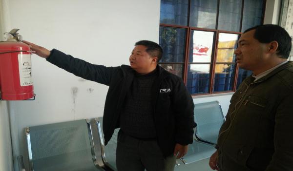 梁河县图书馆年前开展节前安全生产大检查